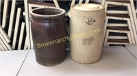 Two 5 Gallon Churn Jars