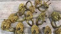 14 Brass Lion Head Ring Pulls