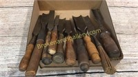 10 Large Wood Working Chisels