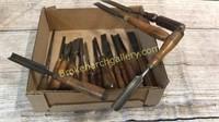 20 Vintage Wood Working Chisels