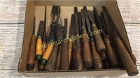 25 Antique Wood Working Chisels