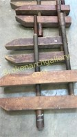 4 Large Antique Wood Working Clamps