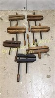 7 Antique Wood Furniture Clamps