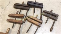 6 Wood Working Clamps
