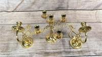 Brass Candleabra, Pair Brass Wall Scone, Lamp