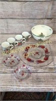 Spode Bowl, Christmas Mugs, Platter, Bowls