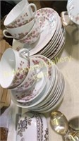Partial Set Limoge, Monaco Plates, Silverplate