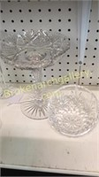 5 Pieces Crystal and Cut Glass