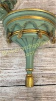 Pair Decorative Composition Wall Brackets