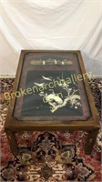 Inlaid Asian Panel Re-purposed as Coffee Table
