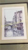 Pair Venice Canal Decorative Prints