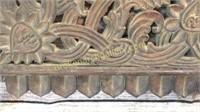 Asian Carved Architecture Panel