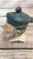 Terra Cotta Figural Tobacco Jar