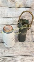 2 Pieces Japanese Art Pottery