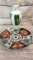Imari Platter, Okura Vase