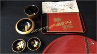 9 Pieces Japanese Lacquer