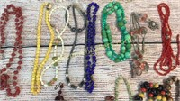 19 Pieces Mostly Costume Necklaces