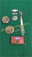 Knights Templer Badge, Brass Belt Buckels
