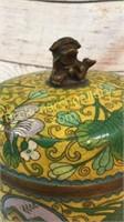 Cloisonné Lidded Jar