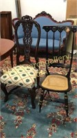 Portuguese Side Chair & Stenciled Side chair