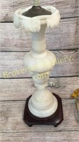 1 Alabaster  &1 Marble Table Lamp