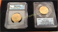 4  Presidential Gold plated Coin Uncirculated