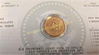 15 Presidential $1 Gold plated Coins