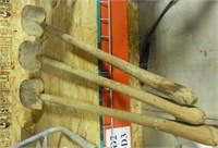 (3) Spade shovels