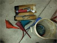 Barrel Pump & funnels
