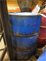 Partial Barrel of SAE30 Oil & Stand
