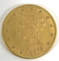 1878 $10 Liberty Head Gold
