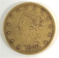 1880 $10 Liberty Head Gold