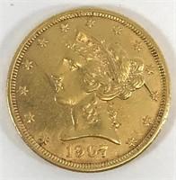1907 $5 Gold Liberty Head