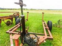 "WW 2-wheel livestock chute carrier, 2"" ball hitch"