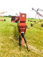 """Peck mod. 1004, 71'x10"""" wheel jack grain auger"""