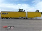 2010 Krueger Drop Deck Trailer B/D Combination / Curtainsider