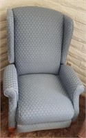 Light Blue Wing Back Reclining  Chair # 2