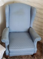 Light Blue Wing Back Chair