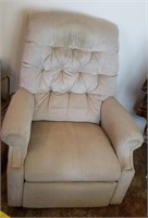 Light Beige Reclining Chair