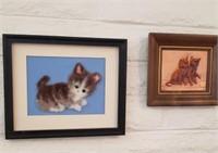 2 Pc Cat Wall Art