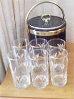 Ice Bucket, Glass Cups