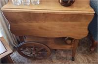 Wood Drink Cart