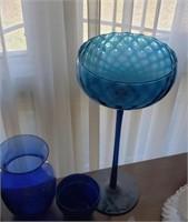 Blue Glass Decor, Vase, Large Cup Decor, Etc