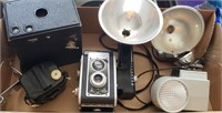 Vintage Cameras W/ Accessories