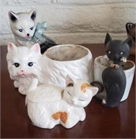 Small Kitty Planters, Kitty Trinket Box