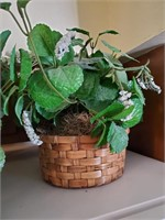 2pc Artificial Greenery In Baskets