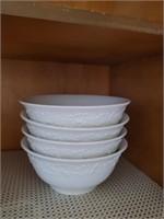 4pc White Soup Bowls