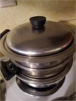 Vintage Stackable Pot, Sections, Lid