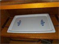 Corningware Blue Flower Serving Platter