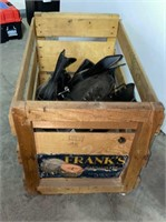 Cantaloupe Crate with Ice Skates